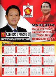Kalender untuk Media Promosi Calon Legislatif